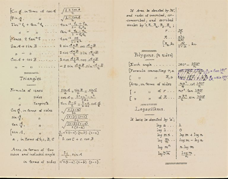 1. Algebraical formulae and rules for the use of candidates for responsions; 2. Arithmetic. I. 3. Formulae; 4. Formulae (Group C). Charles DODGSON, Lewis CARROLL.