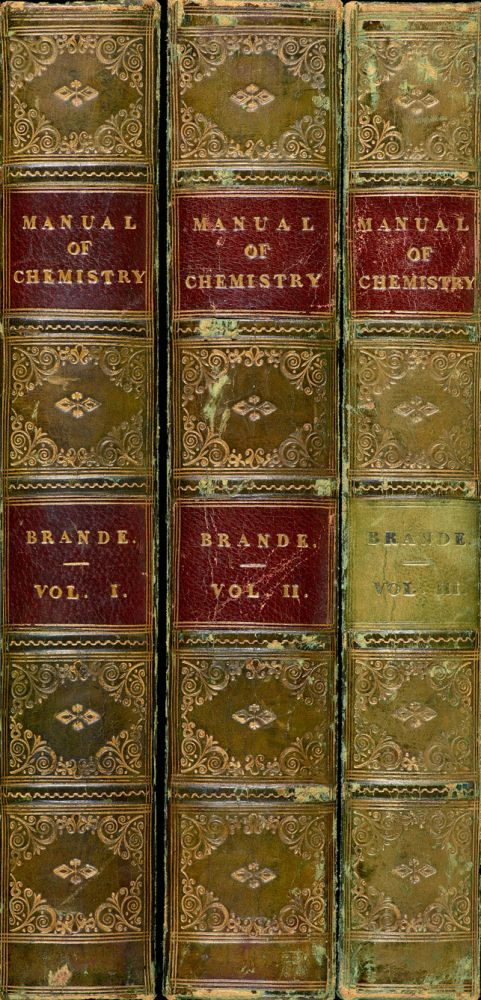 A manual of chemistry. William Thomas BRANDE.