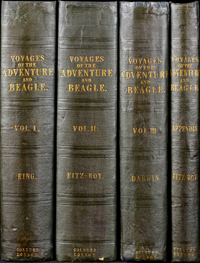 Narrative of the Surveying Voyages of His Majesty's Ships Adventure and Beagle, between the years 1826 and 1836, describing their examination of the southern shores of South America and the Beagle's Circumnavigation of the Globe. Charles DARWIN, Phillip Parker, KING, Robert FITZROY.