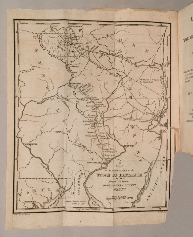 Letters from the British settlement in Pennsylvania. To which are added, the constitutions of the United States, and of Pennsylvania. Charles JOHNSON.