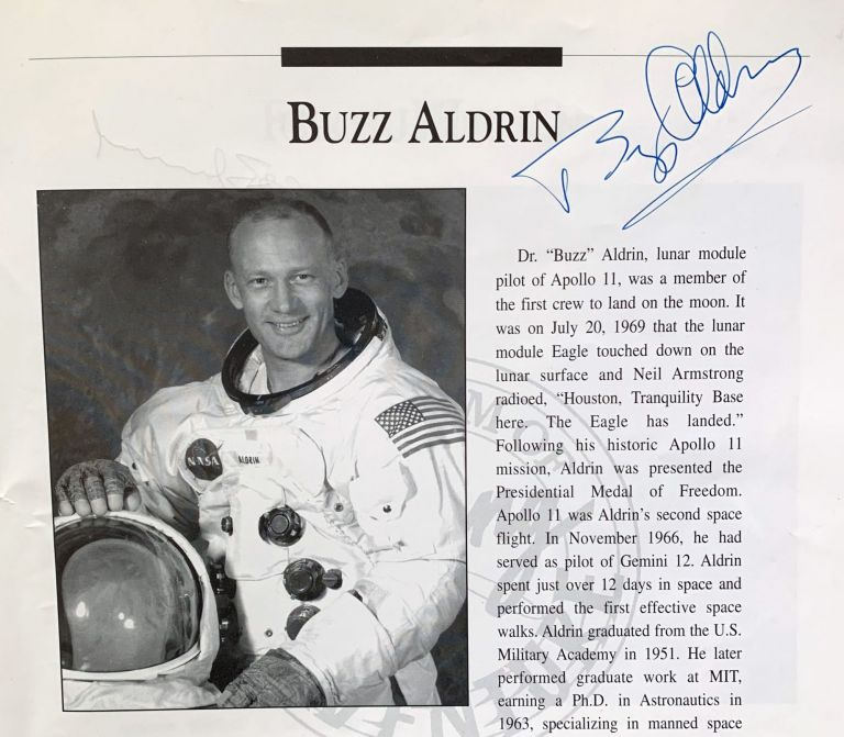 """One giant leap. Honoring Astronauts who achieved significant """"Firsts"""" in the field of Space Travel and Exploration. Santa Monica Airport: The Board of Directors of the Museum of Flying. Friday, September 20, 1996 at 7:30 pm. ASTRONAUTS."""