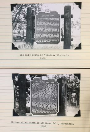A valuable collection containing many documents, 123 black and white photographs, and numerous maps. Each photograph is attached to an 8 x 5 index card with typewritten explanation and date; all maps are in fine condition.