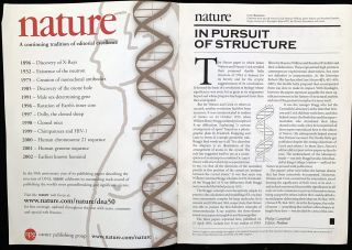 Molecular structure of nucleic acids...In: Nature, Vol. 171; plus Wilkins paper in Vol. 171 (part 2)