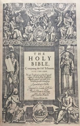 The holy Bible, conteyning the old testament, and the new: newly translated out of the originall tongues