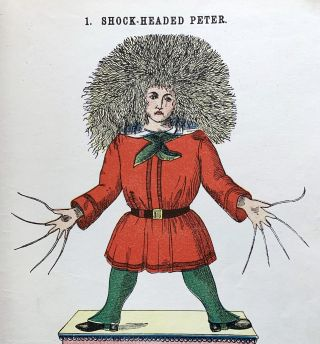 Slovenly Peter. Cheerful stories and funny pictures for good little folks. From the original work with the original illustrations each of which is individually colored by hand.