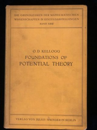 Foundations of potential theory.